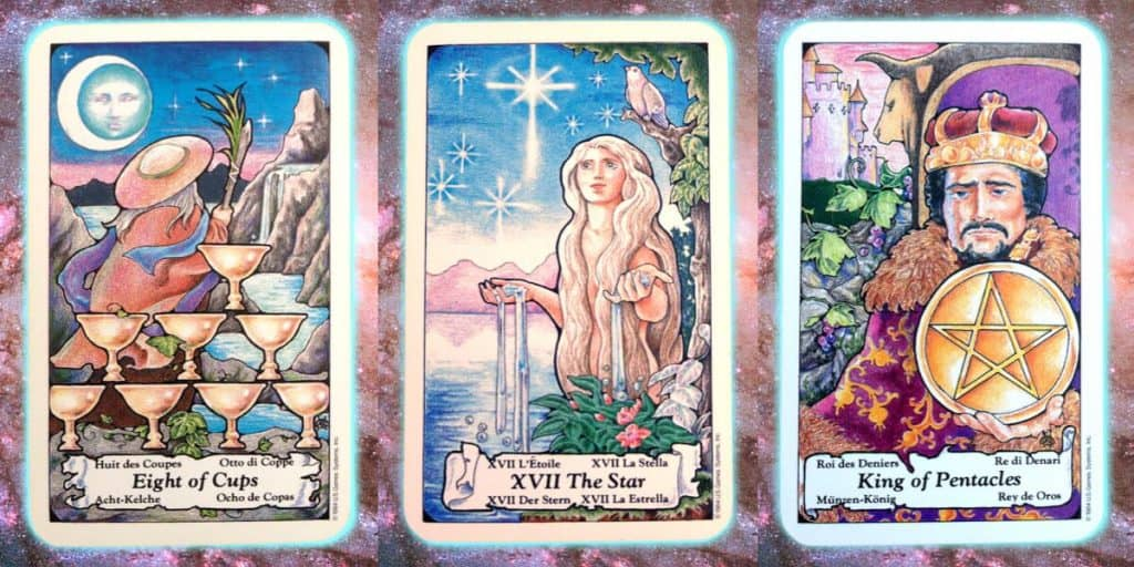 nine's path pleiadian tarot layout weekly reading star