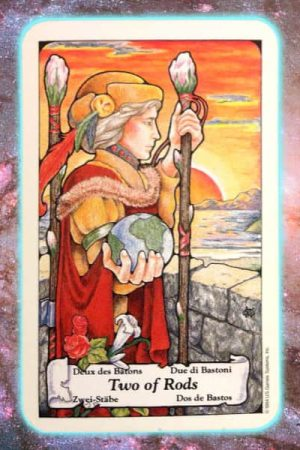 Two of rods nine's path pleiadian tarot