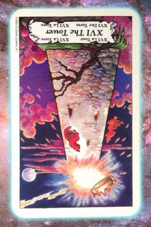 Reversed Tower nine's path pleiadian tarot