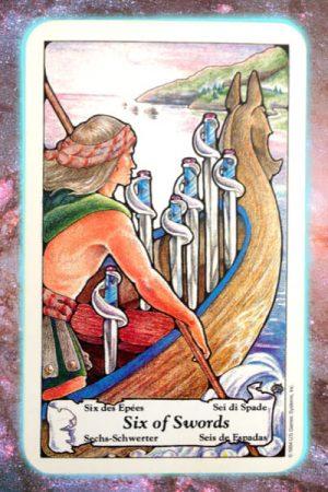 six of swords nine's path pleiadian tarot