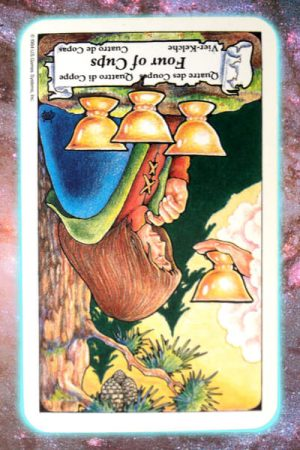 reversed four cups nine's path pleiadian tarot