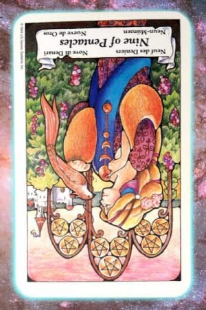reversed nine of pentacles nine's path pleiadian tarot