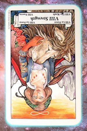 Strength reversed Nine's Path Pleiadian tarot
