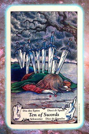 nine's path pleiadian tarot 10 ten of swords