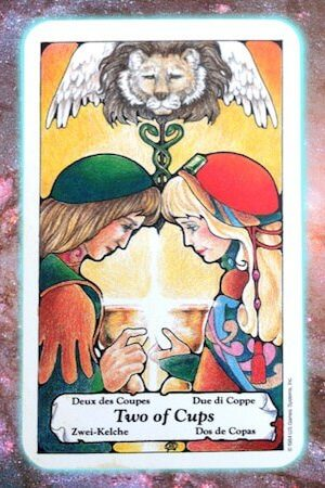 nine's path pleiadian tarot two 2 of cups