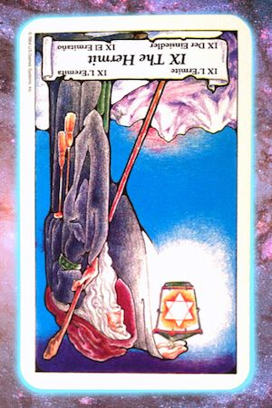 let it shine reversed hermit nine's path pleiadian tarot