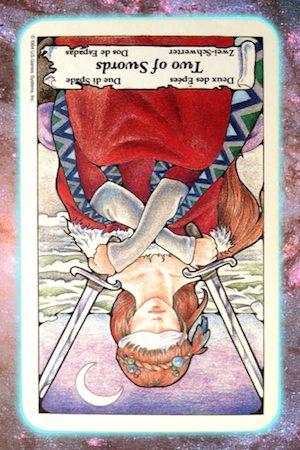 Nine's Path Pleiadian Tarot 10 Ten of Rods Wands