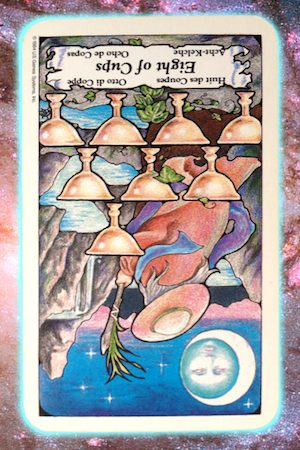 Nine's Path Pleiadian Tarot Eight of Cups 8 reversed