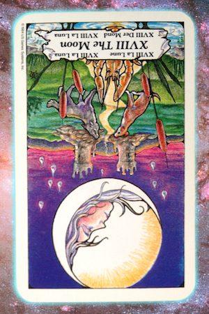 Nine's Path Pleiadian Tarot The Moon reversed