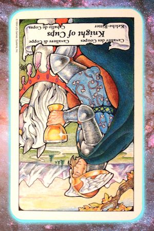 Nine's Path Pleiadian Tarot Knight of Cups reversed