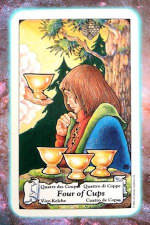Nine's Path Pleiadian Tarot Four of Cups