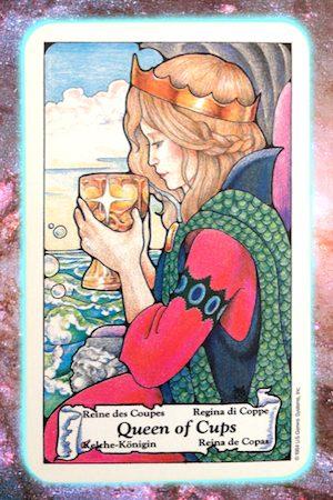 Nine's Path Pleiadian Tarot Queen of Cups