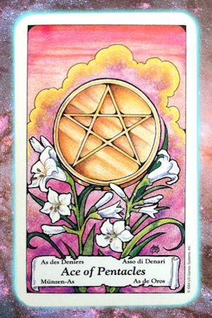 Nine's Path Pleiadian Tarot Ace of Pentacles