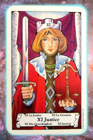 Nine's Path Pleiadian Tarot Justice